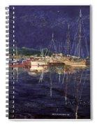 Marina Evening Reflections Spiral Notebook