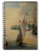Port Scene With Sailing Ships Spiral Notebook