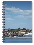 port with ferry boats Corfu Greece Spiral Notebook