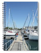 Port With Yacht  Spiral Notebook