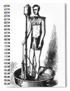 Portable Shower Bath 1880 Spiral Notebook