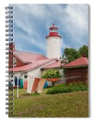 Portage River - Jacobsville - Lighthouse Spiral Notebook