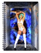 Portal Of Space Through Time Spiral Notebook