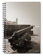 Porthleven Cannon Sepia Spiral Notebook
