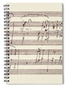 Portion Of The Manuscript Of Beethoven's Sonata In A, Opus 101 Spiral Notebook