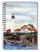 Portland Head Light In Maine Spiral Notebook