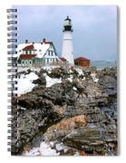 Portland Head Light In Winter Spiral Notebook