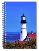 Portland Head Light Spiral Notebook