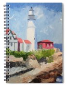 Portland Headlight By The Sea Spiral Notebook