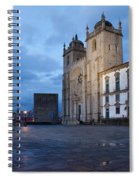 Porto Cathedral And Pillory Column In Portugal Spiral Notebook