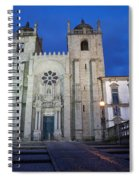 Porto Cathedral By Night In Portugal Spiral Notebook