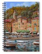 Portofino-la Piazzetta E Le Barche Spiral Notebook