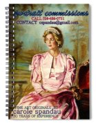 Portrait Commissions By Portrait Artist Carole Spandau Spiral Notebook