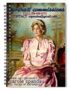 Portrait Commissions By Portrait Artist Carole Spandau Spiral Notebook