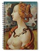 Portrait De Femme Dit De Simonetta Vespucci Spiral Notebook