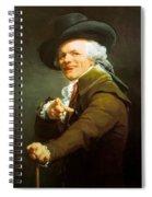 Portrait De L Artiste Sous Les Traits D Un Moqueur 1793 Spiral Notebook
