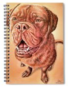 Portrait Drawing Of A Dog Spiral Notebook
