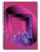 Portrait In Berry 3 Spiral Notebook
