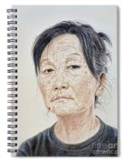 Portrait Of A Chinese Woman With A Mole On Her Chin Spiral Notebook