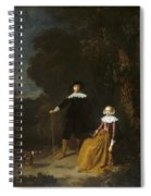 Portrait Of A Couple In A Landscape Spiral Notebook
