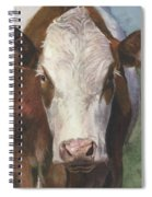 Portrait Of A Cow Iv Spiral Notebook