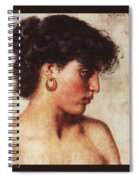 Portrait Of A Dark-haired Beauty Konstantin Makovsky Spiral Notebook