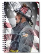 Portrait Of A Fire Fighter Spiral Notebook