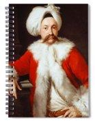 Portrait Of A Gentleman In Oriental Costume Spiral Notebook