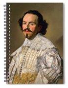 Portrait Of A Gentleman In White Spiral Notebook