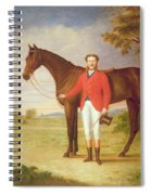 Portrait Of A Gentleman With His Horse Spiral Notebook