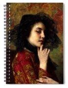 Portrait Of A Georgian Princess Spiral Notebook