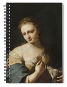 Portrait Of A Girl With A Dog Spiral Notebook