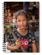 Portrait Of A Khmer Girl - Cambodia Spiral Notebook