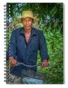 Portrait Of A Khmer Rice Farmer - Cambodia Spiral Notebook