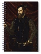 Portrait Of A Knight Of The Order Of Santiago Spiral Notebook