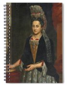 Portrait Of A Lady Half Length In A Mantua Gown And Lace Frelange Headdress Spiral Notebook