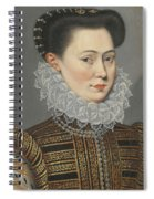 Portrait Of A Lady Head And Shoulders In A Lace Ruff Spiral Notebook