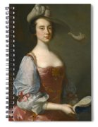 Portrait Of A Lady In Van Dyck Dress Spiral Notebook