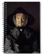 Portrait Of A Lady, Possibly Mrs. Pigott Of Chetwynd Spiral Notebook