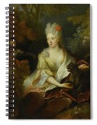 Portrait Of A Lady Seated In A Landscape With Her Pet Dog And A Monkey Spiral Notebook