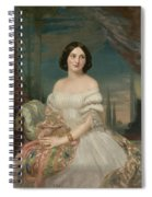 Portrait Of A Lady Sitting Under A Pergola Spiral Notebook