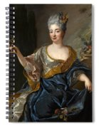 Portrait Of A Lady Three-quarter-length Holding Flowers Spiral Notebook