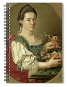 Portrait Of A Lady With A Flower Basket Spiral Notebook
