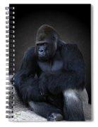 Portrait Of A Male Gorilla Spiral Notebook
