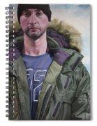 Portrait Of A Mountain Walker. Spiral Notebook