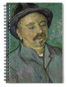 Portrait Of A One Eyed Man Saint Remy De Provence  Autumn 1889 Vincent Van Gogh 1853  1890 Spiral Notebook