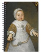 Portrait Of A One-year-old Girl Of The Van Der Burch Family Three-quarter Length Spiral Notebook