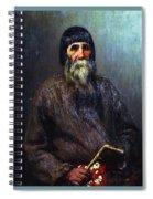 Portrait Of A Peasant 1889 Ilya Repin Spiral Notebook