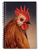Portrait Of A Rooster Spiral Notebook