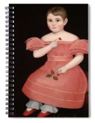 Portrait Of A Rosy Cheeked Young Girl In A Pink Dress Spiral Notebook